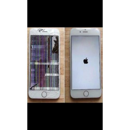 iPhone 7 6s 6 5s X 8 plus barst in scherm lcd glas reparatie